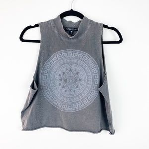 Urban Outfitters  Gray Graphic Crop Top